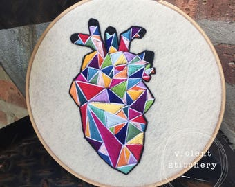 Rainbow Geometric Heart