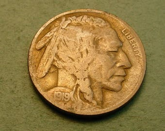 1919-S Buffalo Nickel Fine <>The Coin you see is the Coin you get <> # ET5965
