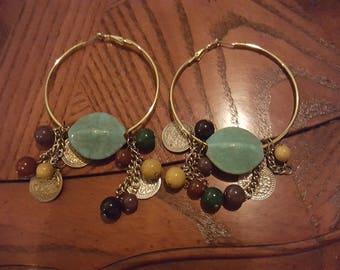 Broken/Repurposed Jewelry: Hoop Earrings