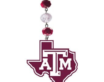 TEXAS A&M University *Logo* MAGNETIC Ornament, Texas AM decor, Texas Am Aggies, Aggies Decor, Aggie Football, Aggie Ornament