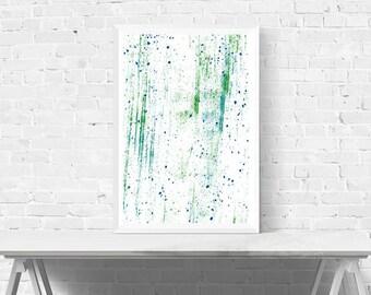 Abstract Art - Abstract Wall Art - Modern Decor - Home Decor - Blue, Teal and Green Wall Art - Minimalist - Wall Art - Abstract Print