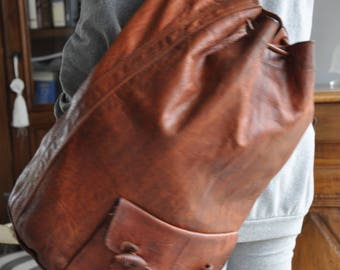 Vintage leather bag, seaman said bag