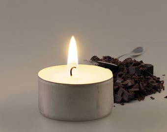 Chocolate Scented Vegan Soy Handmade Scented Tealights