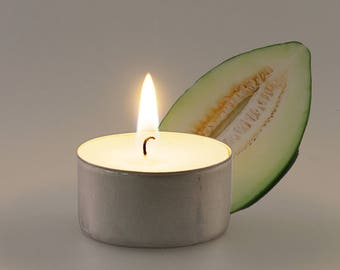 Melon Scented Vegan Soy Handmade Scented Tealights