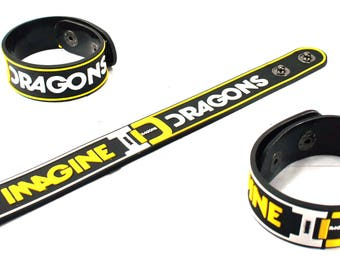 Imagine Dragons New! Rubber Bracelet Wristband The Archive Idn142Na