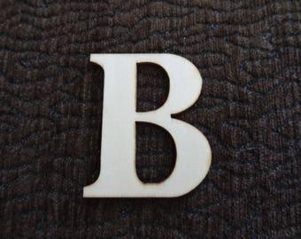 """wooden """"B"""" letter"""