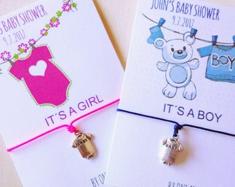 Baby Shower Party Favors • Baby Shower • Baby shower bracelets • Onesie Bracelet baby shower