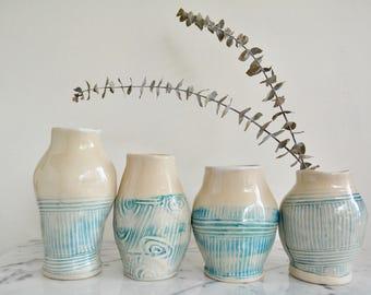 Ceramic Flower Vase, flower lover gift, sold separately