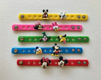 Mickey Mouse Party Favors, Mickey Mouse party, Mickey Mouse birthday, Minnie Mouse party decorations, Charm Bracelets, Mickey, Minnie