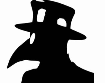 Plague Doctor,Vinyl Sticker,Vinyl Decal,Sticker,Decal,Dark Art ,Goth ,Car Sticker