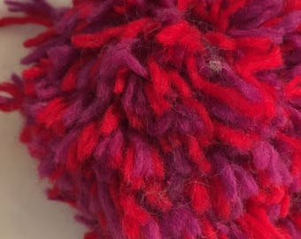 Giant Red/Purple Pom
