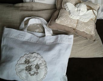 Angel plaster on decorative pillows