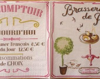 Napkin brasserie in Paris