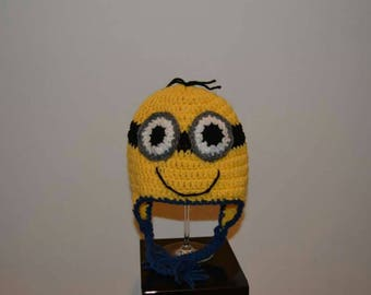 Inspired crochet hat with minions