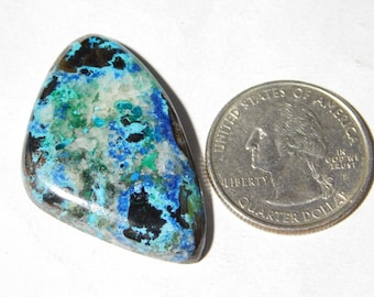 Awesome Azurite Cabochon,Loose Stone,Gemstone,Gorgeous Azurite Cabochon Excellent Gemstone 100%Natural 47.80cts.(38x24x5.5)mm