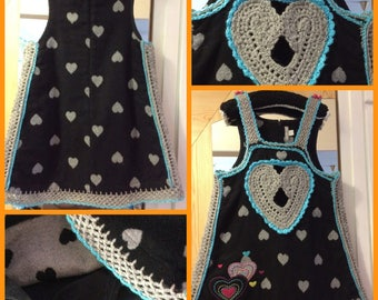 Soldes30%!  Code: SOLDESCNS Chic and elegant dress for girl 5-7 acrylic hand made crochet Decor