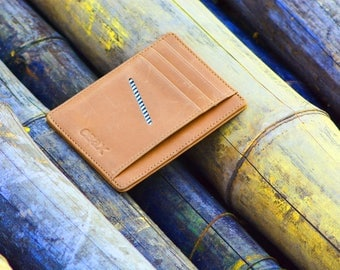Minimalist Slim Wallet with Leather Front Pocket Card Holders And Cash for Men & Women