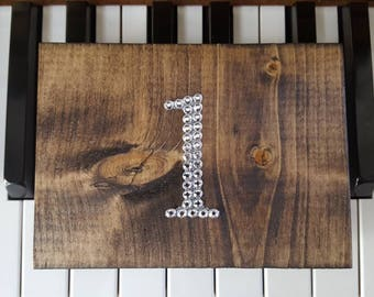 Wooden Table Numbers, Bling Table Numbers, Wedding Table Decor, Wedding Table Centrepiece, Rustic Wood Table Numbers