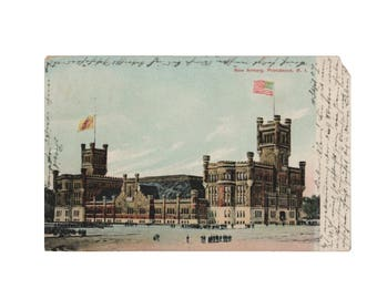 RHODE ISLAND: New Armory, Providence - Dated Sept 4, 1907