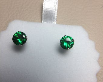 Green Zircon Earrings