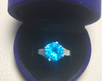 Sea Blue Zircon
