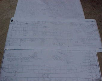 B-36 Bomber Model Airplane Plans 112 Inch Wing Span