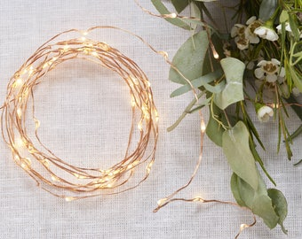 Rose Gold LED String Table Lights, Cooper String Lights, Wedding Table Decorations, Party Decorations, Tableware Decorations