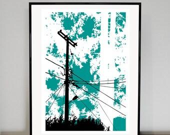 Telegraph Pole   06 art print