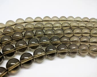 Smoky Quartz Beads 8mm beads 10mm Smoky Quartz beads 12mm Smokey Quartz Round Beads 8mm Gemstone Beads 10mm gemstone beads 12 mm Quartz