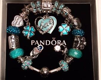 Authentic Pandora 925 Sterling Silver Bracelet LOVE- LOVE LOVE the Beach!