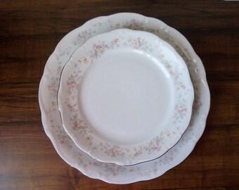 Vintage Johann Haviland, Bavaria 3 porcelain plates. Germany (#EV152)