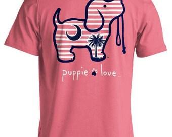 Puppie Love Brand Palmetto Pup Azalea Cotton Short Sleeve T Shirt