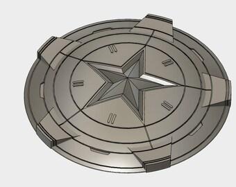 Captain America Shield Marvel Cosplay 3d Model