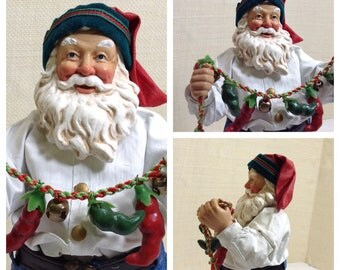 Vintage Possible Dreams Clothtique  Santa Claus Figurine Collectible Santa Claus Rare PreciousClaus