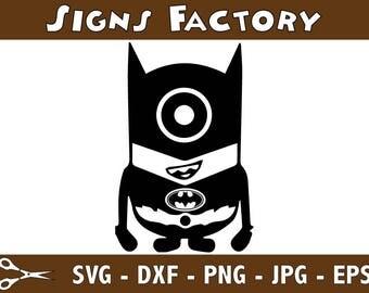 Batman Minion Svg Dxf Eps Png Cutting File Clipart svg,svg Files,batman superhero svg,Cut Files,files for Cricut,batman svg files,batman png