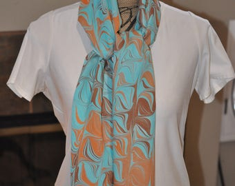 The Cable Hand made 100% silk scarf