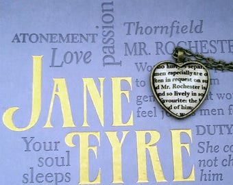Jane Eyre by Charlotte Bronte Mr. Rochester Necklace or Key Ring