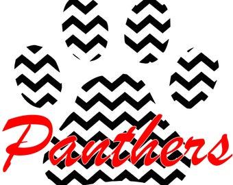 Chevron Panther Paw