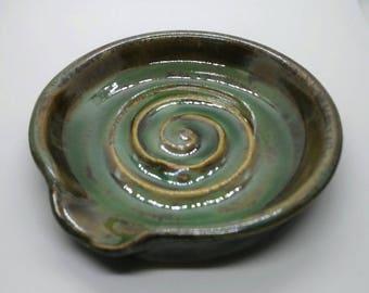 Handmade Wheel Thrown Stoneware Spoon Rest