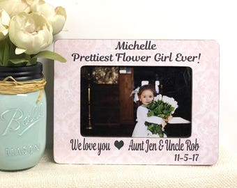 Flower Girl Frame| Thank You Gift For Flower Girl| Wedding Flower Girl| Personalized Wedding| Flower Girl Picture Frame|
