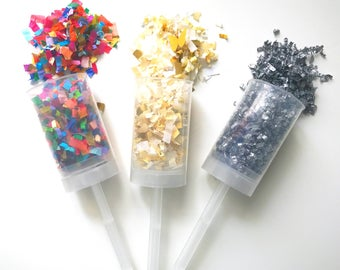 Custom Party Poppers (Set of 4)