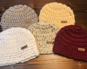 Women/ Child crocheted beanie hat