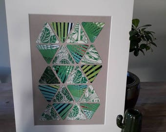 """Collage """"green triangle"""""""