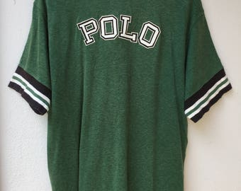 Rare!!Vintage Polo Sport By Ralph Lauren T-Shirt SpellOut POLO big Logo