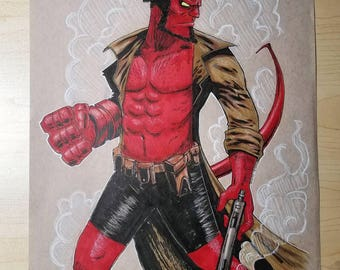Hellboy Original Art