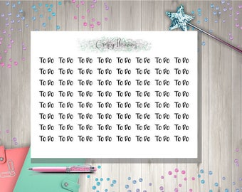To Do Word Text Planner Stickers