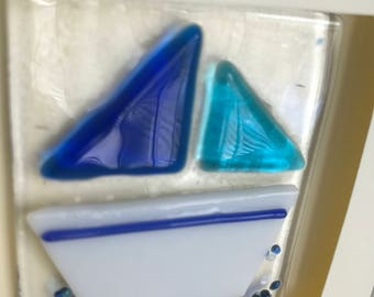 Fused glass Yacht greetings cards