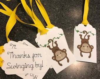 Hanging Monkey Gift Tags