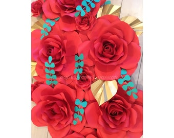 Paper Flower Red Roses