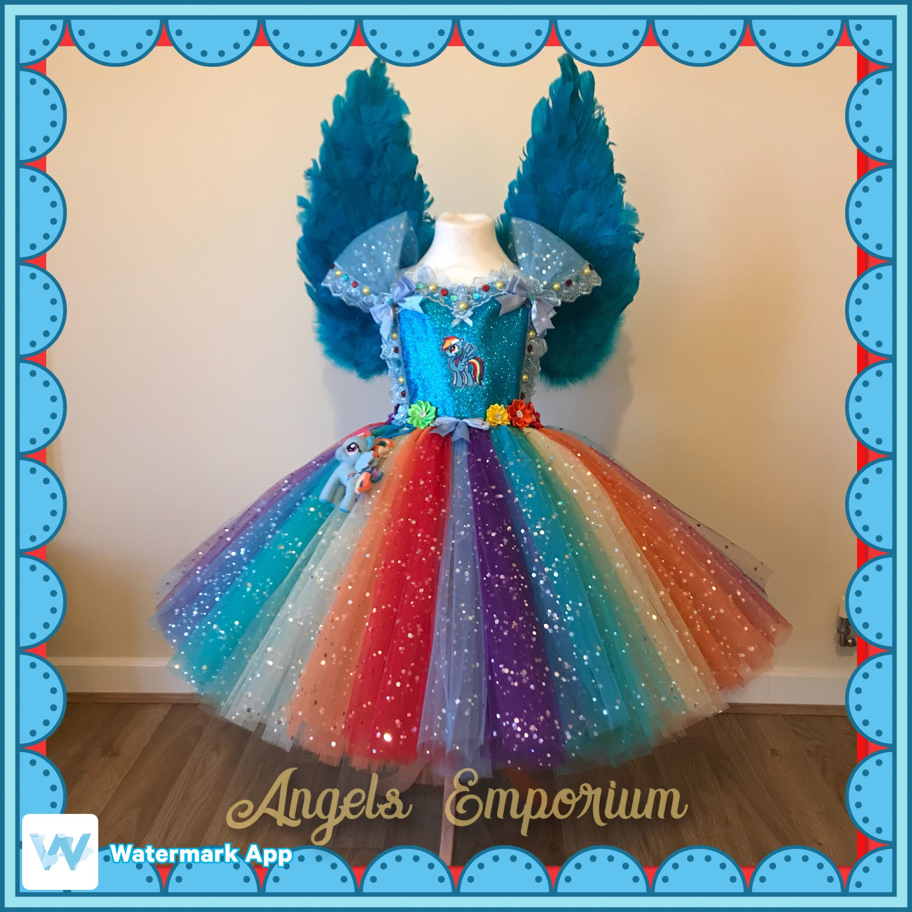 My Little Pony Rainbow Dash Inspired Tutu Dress With or Without ...